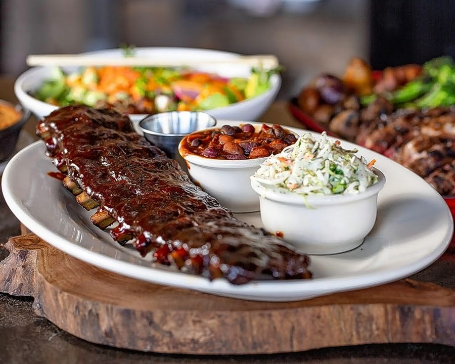 Weber Grill Restaurant will be serving Dinosaur BBQ Beef Rib with bourbon baked beans, slaw and house pickles on Father's Day.