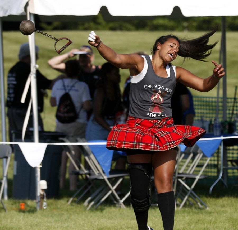 Elissa Hapner of Aurora competed in a previous Scottish Festival and Highland Games in Itasca.