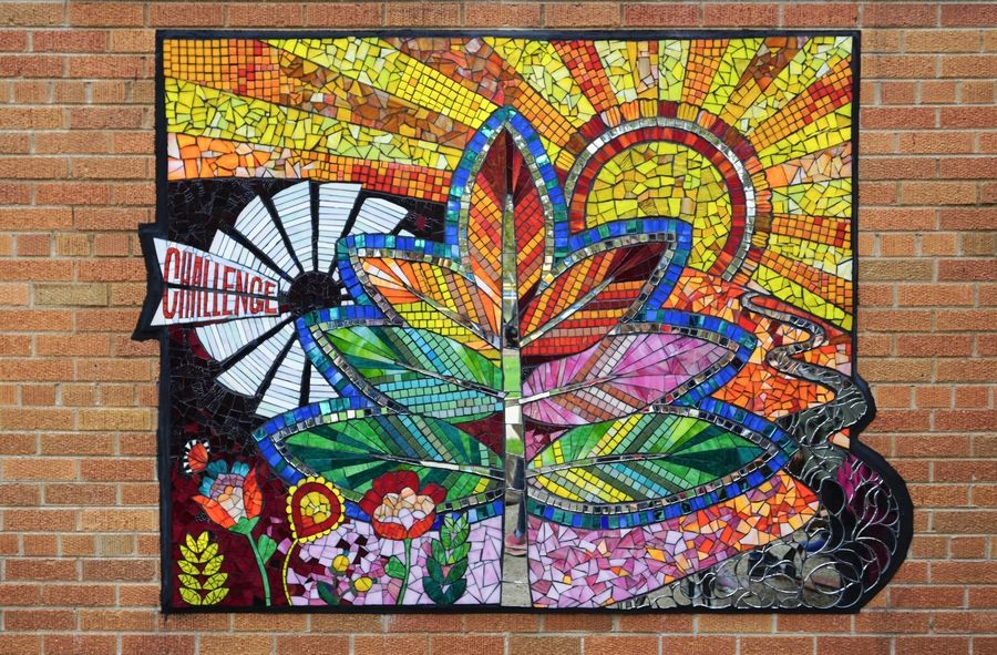 The new mural at J.B. Nelson Elementary School in Batavia was created by students, with design help from a professional artist.