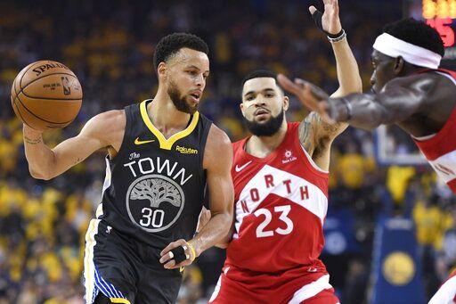 buy popular dffa2 c8340 Raptors earn 1st NBA title, top injured Warriors in Game 6