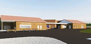 This rendering depicts the expanded concession area at the Round Lake High School athletic stadium. The project has been delayed by historic rains this spring, but school officials expect the work complete by mid-September.