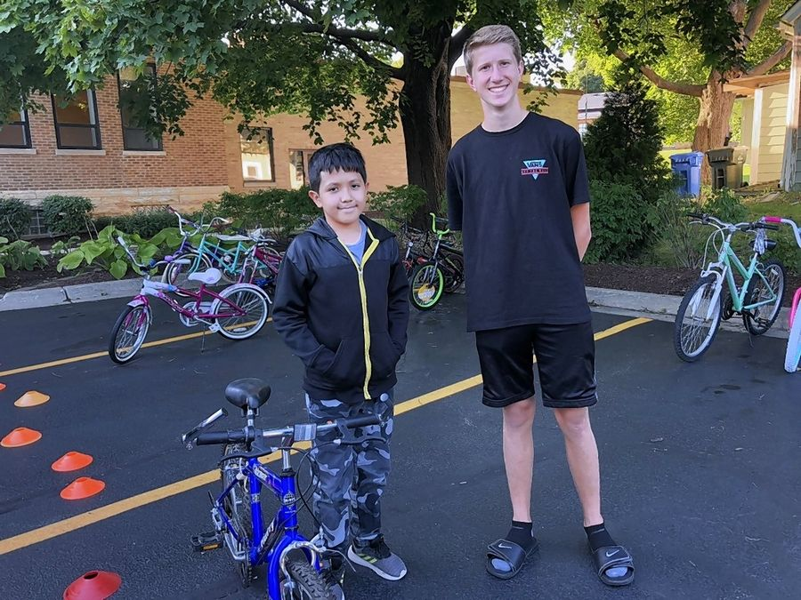 Jacobs High School graduate Justin Lorenz collected 80 donated bicycles for children of varying ages at the Boys and Girls Clubs of Dundee Township in Carpentersville last year. He's collecting bicycles again this summer for the clubs.