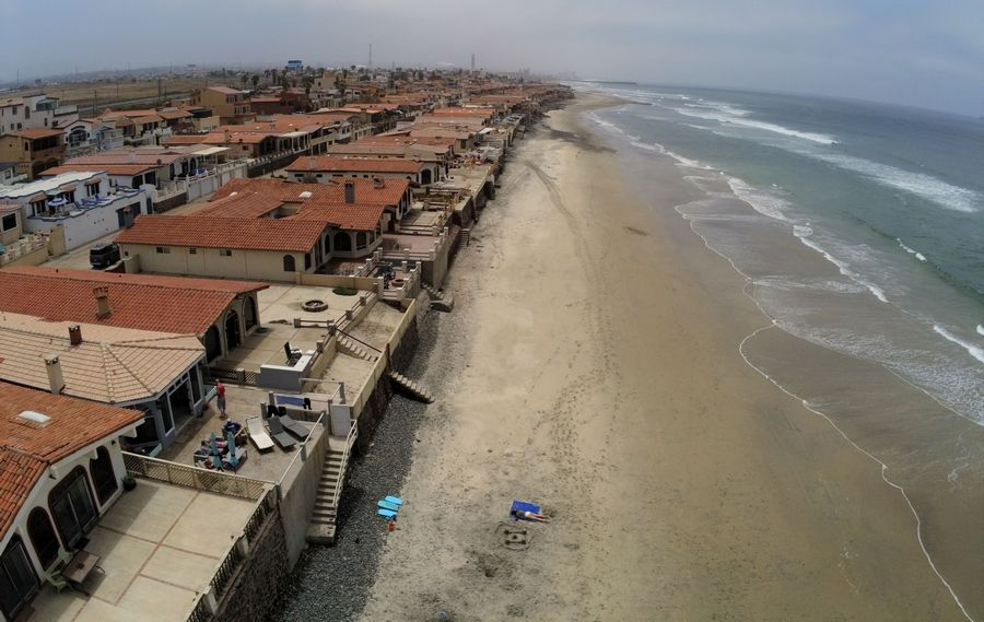Aerial view of Chad and Amy Wells' beach house in Rosarito, Mexico, on June 9, 2019.