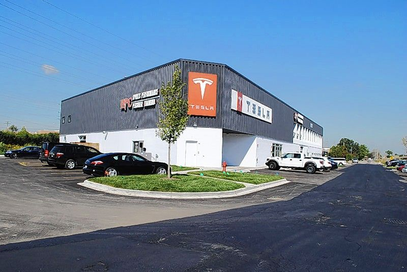 The commercial building at 1200 Old Skokie Valley Road in Highland Park -- commonly known as the Tesla Building -- to a private investor from Hawaii, according to Berger Asset Management.