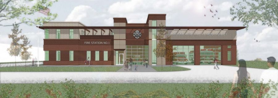 A $10 million addition and site renovations to the Huntley Fire Protection District's property at 11118 Main St., is set to begin soon. The building will serve as the district's new headquarters, with a fire station and maintenance facility.