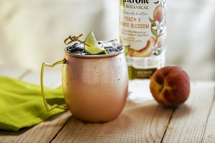 Refresh with Seasons 52's new Peach Riesling Mule.