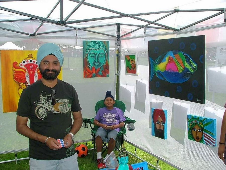 For anyone interested in Indian art and culture, Tony Talwar's booth is a popular stop at the Global Arts Festival in Bartlett Park.