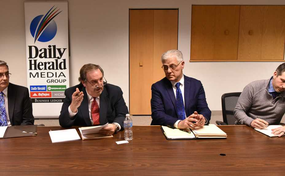 Four candidates for Rolling Meadows mayor participate in the Daily Herald endorsement interview earlier this year. Should a primary be held in such cases to limit the final election to the two top candidates?