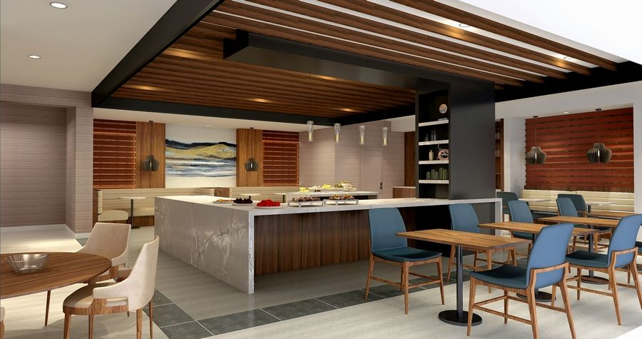 A rendering of the planned MClub Lounge that is part of the Chicago Marriott Schaumburg's $22 million renovation this summer.