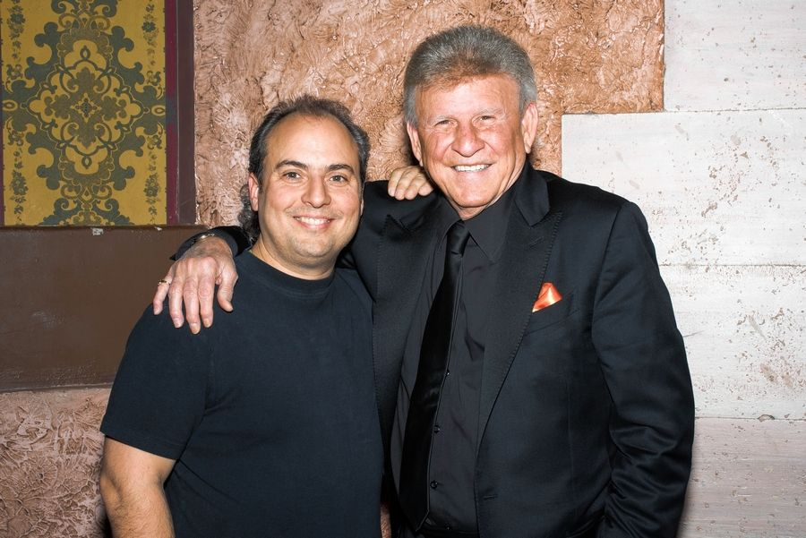 Singer Bobby Rydell, right, has performed at Ron Onesti's Arcada Theatre in St. Charles.