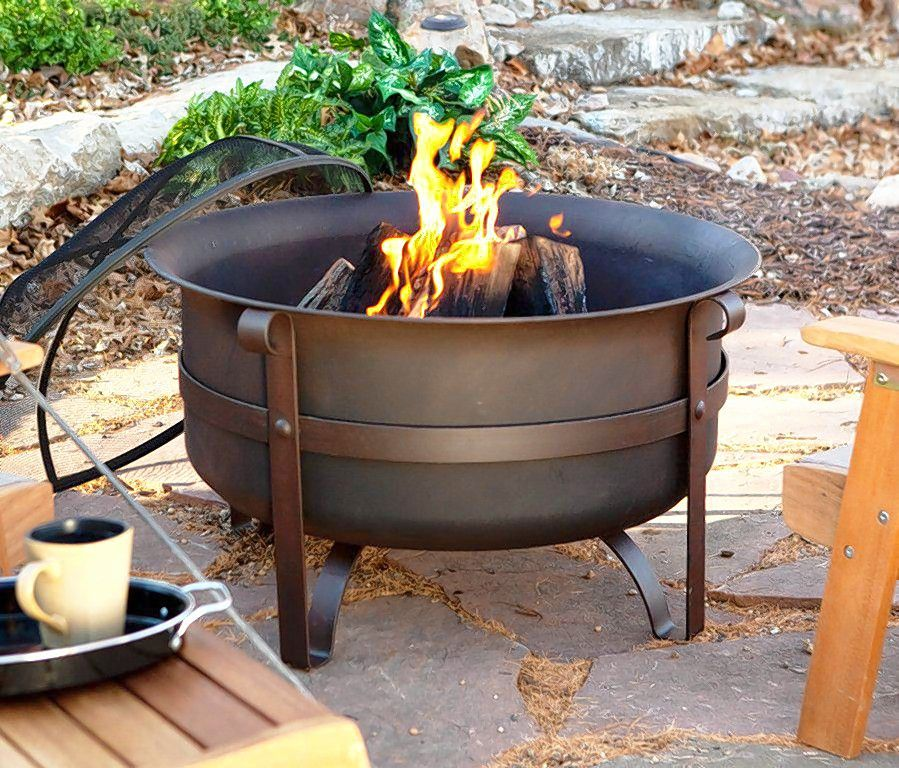 This cast iron cauldron firepit is reminiscent of the campfires music fans sat around during the Woodstock music festival.