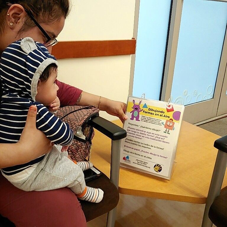 This summer, the Elgin Partnership for Early Learning, in partnership with Greater Elgin Family Care Center, is bringing bilingual, educational flipbooks with activities for parents to interact with their children while waiting for their doctor.