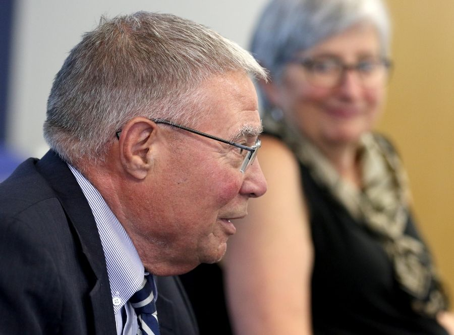 Harper College President Ken Ender received a $45,000 bonus during his final meeting Wednesday with the college's board of trustees. The board voted 6-1 to approve the bonus.