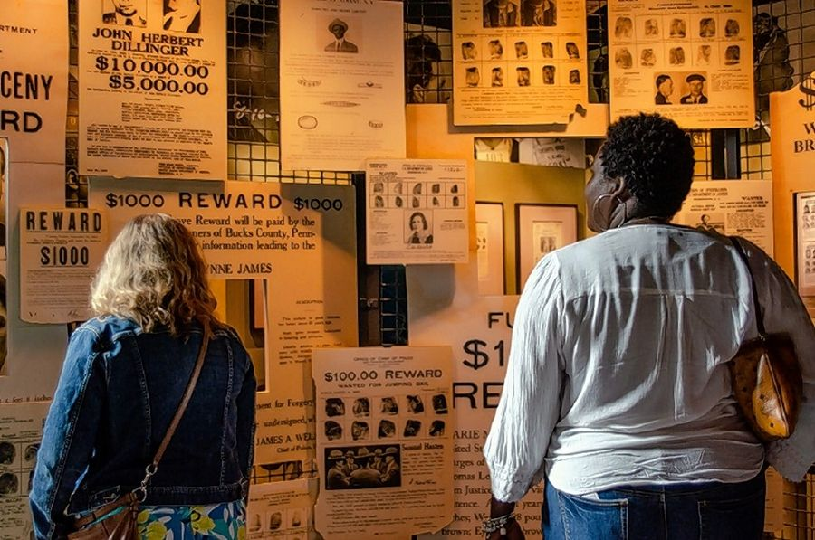 Wanted posters spanning the decades are on display at the National Law Enforcement Museum. The museum opened in October near the National Mall in Washington, D.C.
