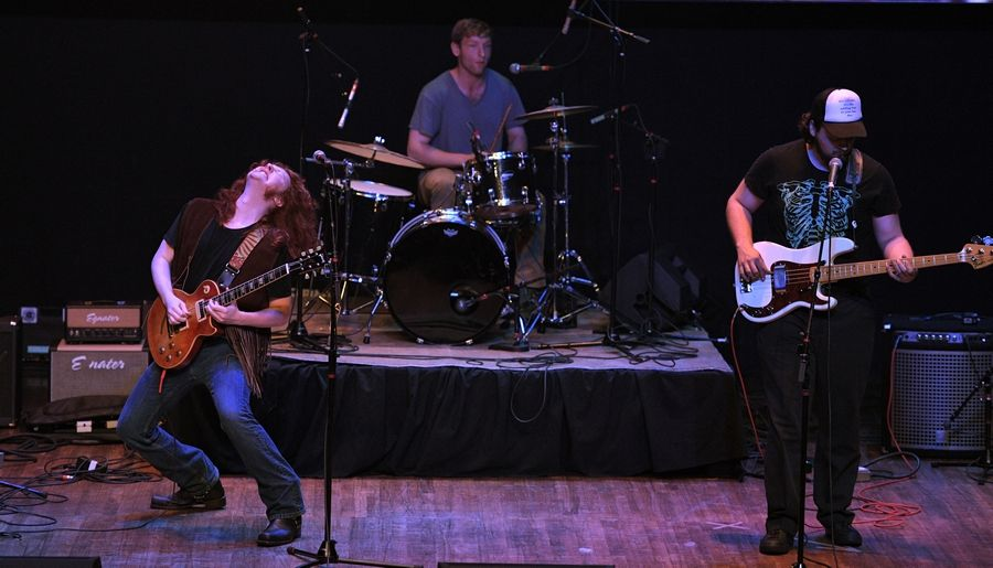 The band The Vaughan Building performs Sunday at the Arcada Theatre in St. Charles as part of the Suburban Chicago's Got Talent Top 20 show.