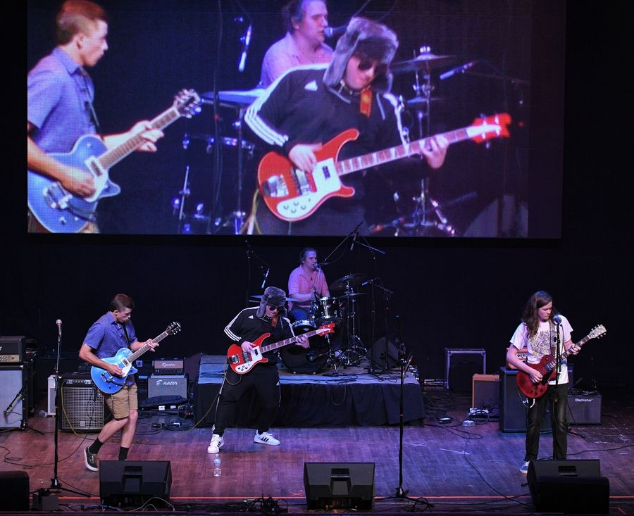 The band The Recall performs Sunday at the Arcada Theatre in St. Charles as part of the Suburban Chicago's Got Talent Top 20 show.