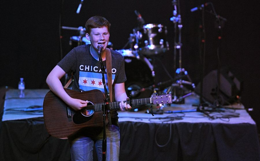 Joey Wilbur performs Sunday at the Arcada Theatre in St. Charles as part of the Suburban Chicago's Got Talent Top 20 show.