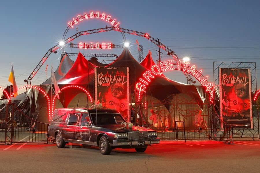 Paranormal Cirque, a traveling circus company for mature audiences, will pitch its black and red big top tent outside Gurnee Mills for 13 performances from July 11 through 21.
