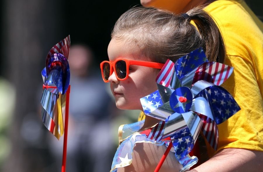 Sadie Lorig, 4, of Bartlett rides in the Bartlett Lions Club's Fourth of July Parade last year.