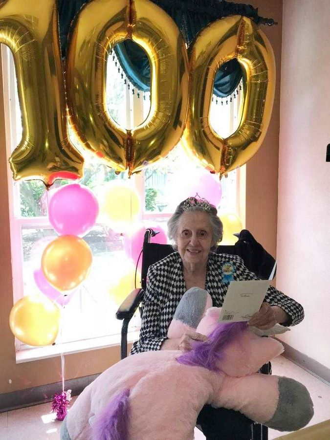 "Dorothy Maynard celebrated her 100th birthday at Arden Courts of Geneva, marking the first ""centennial birthday"" for the facility."