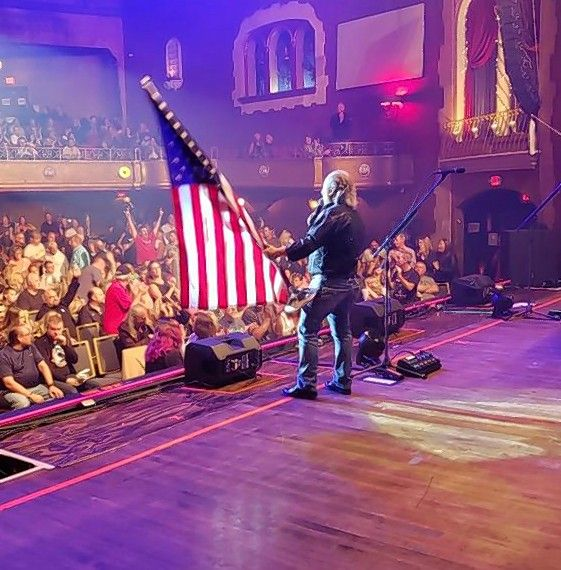 Ron Onesti wishes a happy Fourth of July weekend to a crowd at his Arcada Theatre in St. Charles.