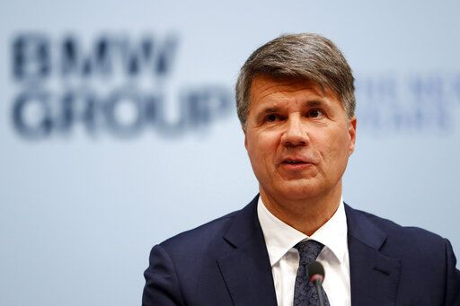 File---Picture taken March 20, 2019 shows CEO of the German car manufacturer BMW, Harald Krueger, attending the earnings press conference in Munich, Germany.