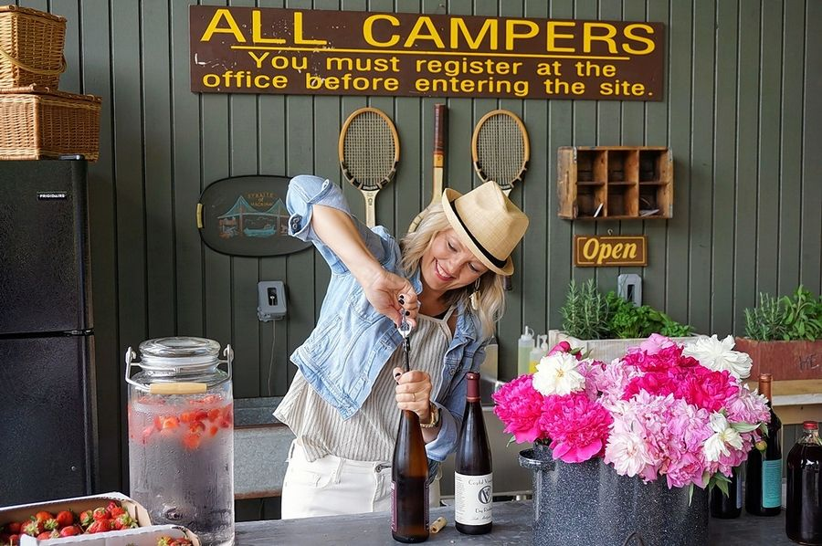 Hinsdale resident Irene Wood owns The Fields of Michigan, a luxe glamping business.