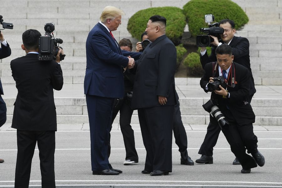 "President Donald Trump crossed into North Korea at Panmunjom to meet with North Korean leader Kim Jong Un last month, but there's no evidence for Trump's claim that former President Barack Obama was ""begging"" Kim for a meeting."