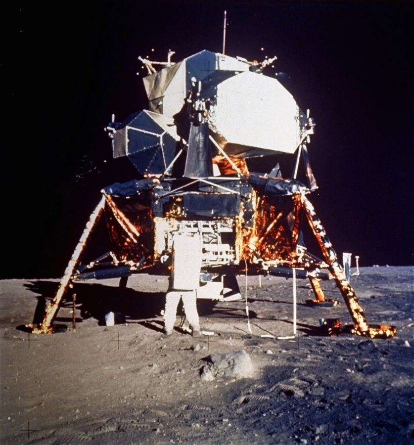 "Commander Neil A. Armstrong took a photo of fellow Apollo 11 astronaut Buzz Aldrin working on the lunar surface. Learn more about the ""The Moon Landing -- 50th Anniversary"" with historian Jim Gibbons on Monday, July 15."