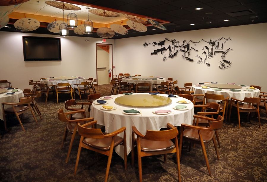The Dream Place offers tables for larger groups to share lunch or dinner.