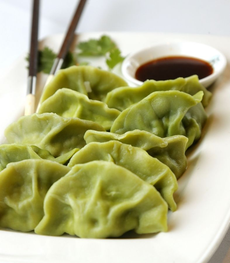 Artfully displayed, the vegetable wontons are a good starter at The Dream Place in Palatine.