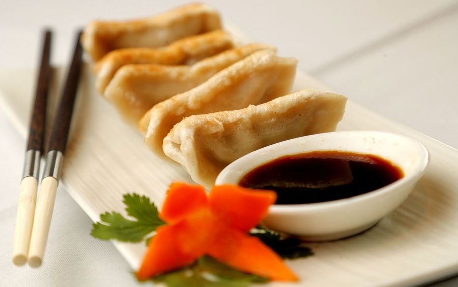 Pot Stickers are among the many appetizer options at Palatine's The Dream Place.