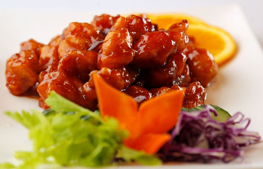 The Dream Place serves traditional Chinese dishes such as the orange chicken.