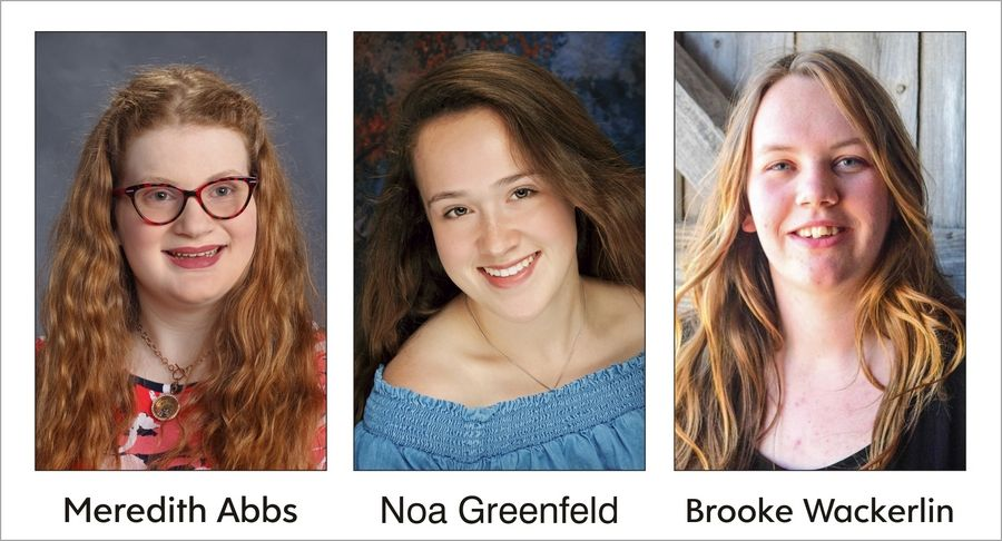 Meredith Abbs, Noa Greenfeld, and Brooke Wackerlin were named the 2019 Kane County Fair 4-H scholarship recipients.