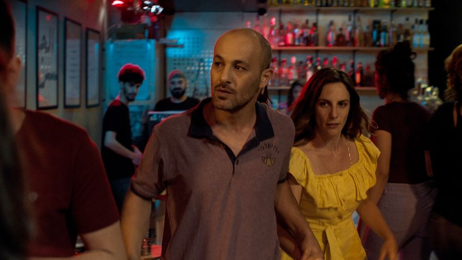 "The affair between a Palestinian man (Adeeb Safadi), left, and Jewish woman (Sivane Kretchner) in Israel leads to political complications in ""The Reports on Sarah and Saleem."""