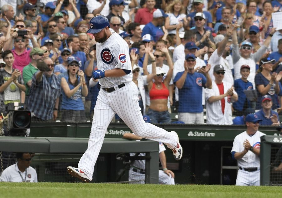Jon Lester showed again Saturday why he's the best free-agent signing in Chicago Cubs history. Lester contributed both with his pitching and his hitting as the Cubs scored 7 runs in the first inning and beat the Pittsburgh Pirates 10-4 at Wrigley Field.