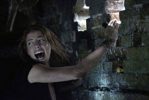 "This image released by Paramount Pictures shows Kaya Scodelario in a scene from ""Crawl."" (Sergej Radović/Paramount Pictures via AP)"