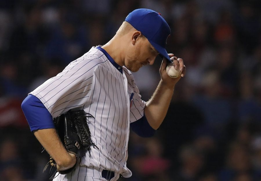 Chicago Cubs pitcher Mike Montgomery was traded late Monday to the Kansas City Royals for catcher Martin Maldonado after Cubs catcher Willson Contreras was placed on the injured list with a foot injury.
