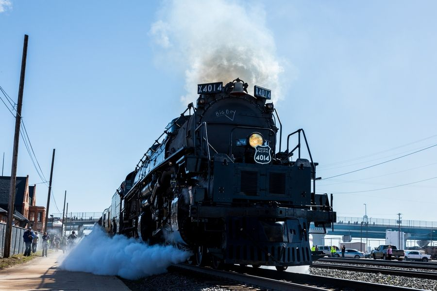 "Big Boy No. 4014, the world's largest steam locomotive, is currently scheduled to stop in West Chicago July 27-29 during its ""Great Race Across the Midwest."" It is part of Union Pacific's 150th anniversary celebration of the Transcontinental Railroad's completion."