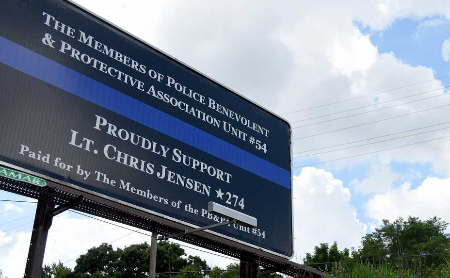 "The Elgin police union put up a billboard saying its members ""proudly support"" Lt. Christian Jensen, who has been on paid leave since he fatally shot resident Decynthia Clements in 2018."