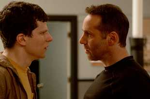 "Dweebish Casey (Jesse Eisenberg), left, pursues karate lessons from the deranged Sensei (Alessandro Nivola) in ""The Art of Self-Defense."""