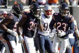 Steve Lundy/slundy@dailyherald.com, Oct. 21, 2018 Chicago Bears cornerback Kyle Fuller was tied for first in the NFL in interceptions last season.