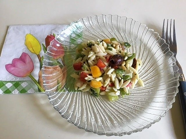 This orzo salad that I discovered at the deli is now one of my favorites.