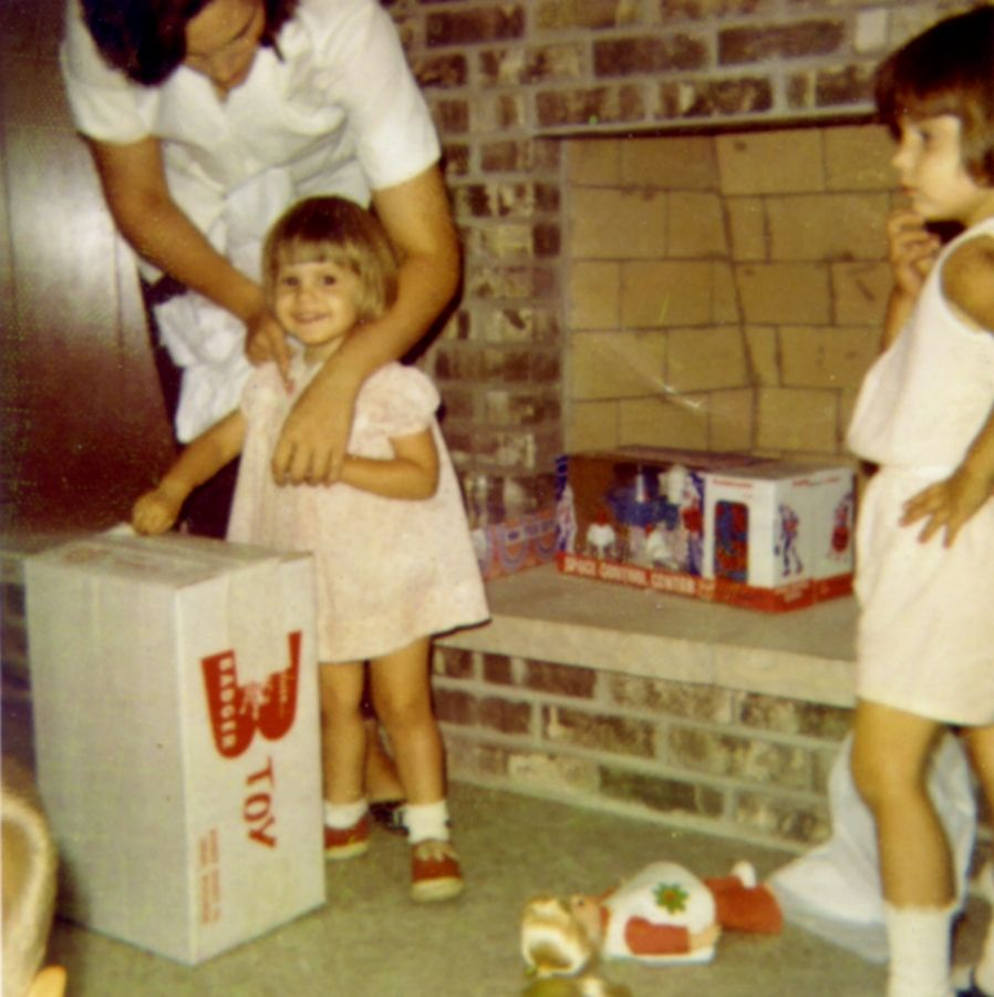 The children of former Schaumburg Mayor Al and Nancy Larson always had toys with a science slant. Longtime NASA director Catherine Koerner, then a child above right, notes the Space Control Center toy her younger sister, Beth, got for her birthday.