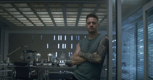 "Hawkeye/Clint Barton (Jeremy Renner) in a scene from Marvel Studios' Avengers: Endgame. he global box office has a new king in ""Avengers: Endgame.� The superhero extravaganza the weekend of July 20 has usurped ""Avatar� to become the highest grossing film of all time, with an estimated $2.79 billion in worldwide grosses in just 13 weeks.(Film Frame/Marvel Studios 2019 via AP)"