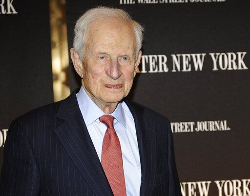 FILE - In this April 26, 2010 file photo, former New York City District Attorney Robert Morgenthau attends a gala launch party in New York. Morgenthau, the longest-serving former Manhattan district attorney who tried mob kingpins, music stars and white-collar criminals and inspired a character on 'Law & Order' has died. He was 99. His wife, Lucinda Franks, told The New York Times that Morgenthau died Sunday, July 21, 2019, at a Manhattan hospital after a short illness.