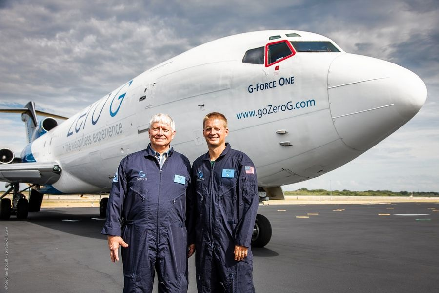 Buffalo Grove High School alumnus Stephen Yacktman, right, made a $1 million donation to the school for a science lab that will be named for his former teacher, Saulius Ploplys. The student and teacher still stay in touch, having taken a zero-gravity airplane flight together.