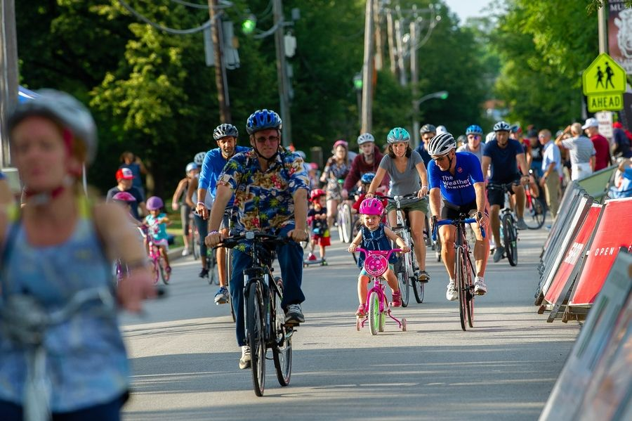 Kids can take a few laps on the Elmhurst Cycling Classic course during the Olympia Chiropractic Family Fun Ride Saturday.