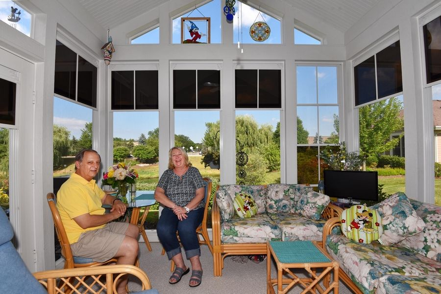 When Steve and Debby Jacobs wanted to downsize their home, they looked at many communities before settling on Fisher Farm in Winfield. They chose to build a home with a first-floor master suite and added a screened porch option as well.