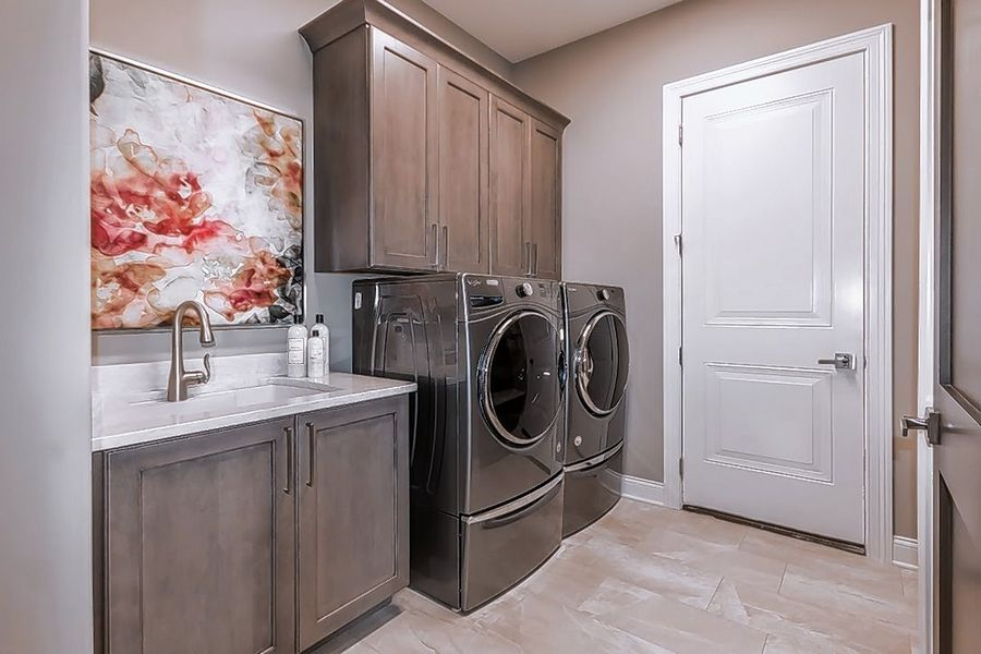KLM offers 20 different ranch home plans, including the Montana that has a laundry room off the kitchen near the master suite.